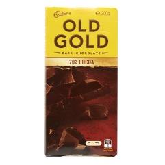 吉百利 OLD GOLD 黑朱古力70%可可排裝