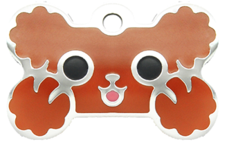 Therese Tag & Pet Accessories - 貴婦狗水磨膠大狗骨