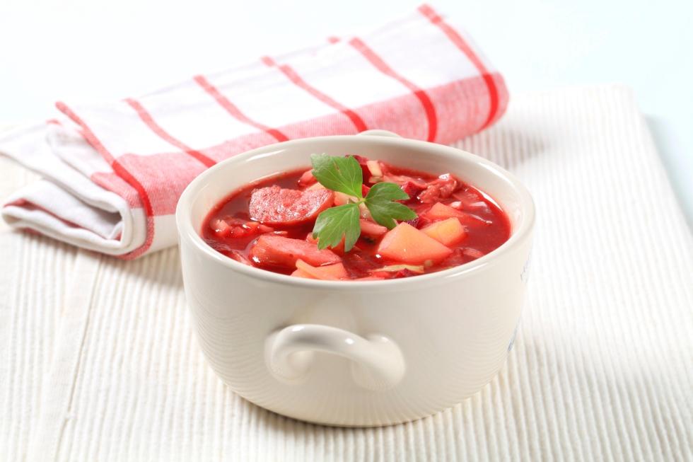 red beetroot soup (borsch)