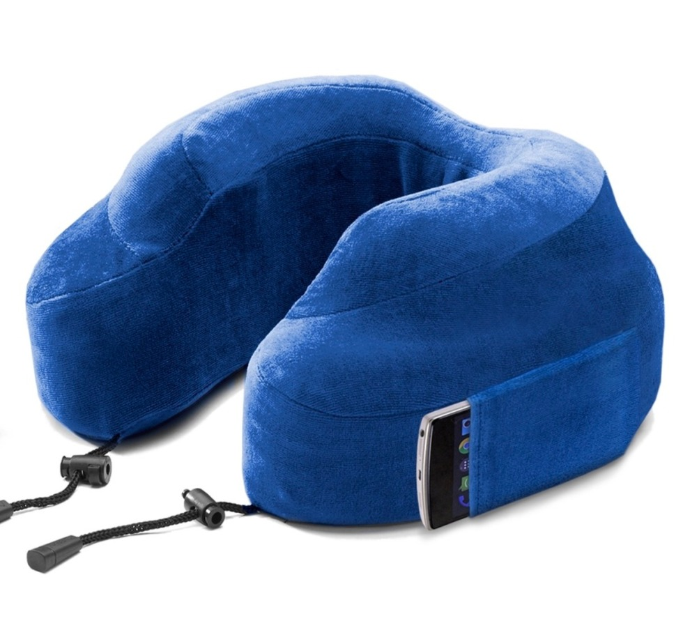 Cabeau - 美國 Cabeau 旅行用記憶頸枕 (藍色)