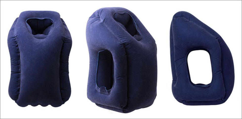 Fashion Walker - 灰色 - 便攜肩頸承托蒙頭枕